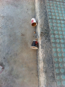 Macchiato on ground