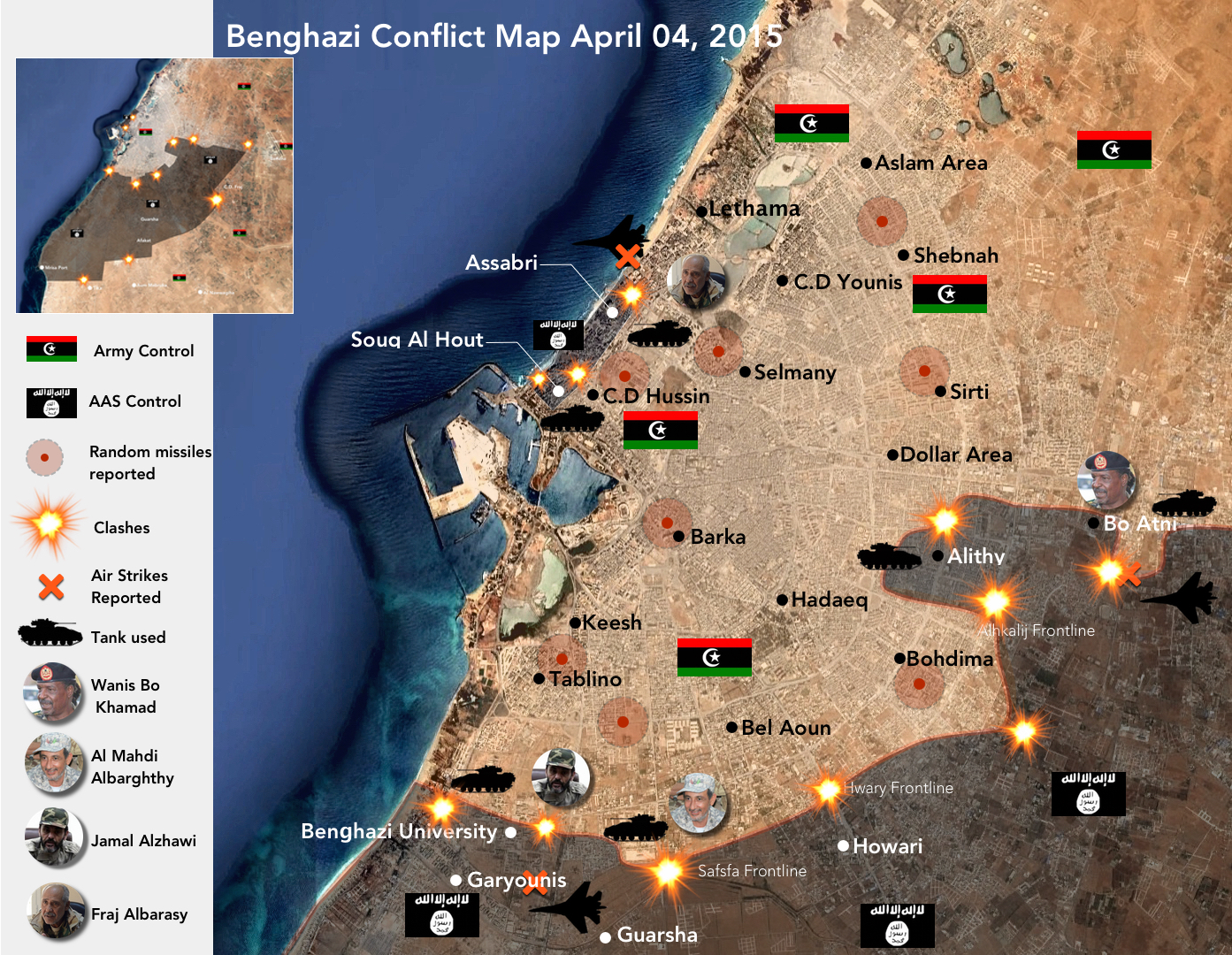 Benghazi conflict map April 4 2015 mutaz20042000 LibyanCrisis